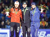 Subject: Annette Gerritsen, Beixing Wang, Jenny Wolf Siegerehrung 500m Damen; Tags: Sport, Siegerehrung, Victory ceremony, Preisverleihung, Ehrung, Award ceremony, Award, Prize Giving, NED, Netherlands, Niederlande, Holland, Dutch, Jenny Wolf, GER, Germany, Deutschland, Eisschnelllauf, Speed skating, Schaatsen, Detail, Damen, Ladies, Frau, Mesdames, Female, Women, CHN, China, Volksrepublik China, Beixing Wang, Athlet, Athlete, Sportler, Wettkämpfer, Sportsman, Annette Gerritsen; PhotoID: 2009-11-13-0246