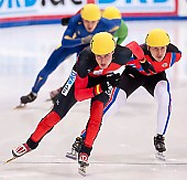 Subject: Robert Seifert, Sergej Prankevitch; Tags: Sport, Shorttrack, Short Track, Sergej Prankevitch, Robert Seifert, RUS, Russian Federation, Russische Föderation, Russia, Herren, Men, Gentlemen, Mann, Männer, Gents, Sirs, Mister, GER, Germany, Deutschland, Athlet, Athlete, Sportler, Wettkämpfer, Sportsman; PhotoID: 2010-01-22-3726