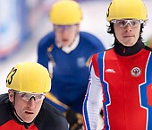 Subject: Evgeny Kozulin, Sebastian Praus; Tags: Sport, Shorttrack, Short Track, Sebastian Praus, RUS, Russian Federation, Russische Föderation, Russia, Herren, Men, Gentlemen, Mann, Männer, Gents, Sirs, Mister, GER, Germany, Deutschland, Evgeny Kozulin, Athlet, Athlete, Sportler, Wettkämpfer, Sportsman; PhotoID: 2010-01-22-3764