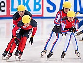 Subject: Evgeny Kozulin, Robert Seifert, Sebastian Praus, Sergej Prankevitch; Tags: Sport, Shorttrack, Short Track, Sergej Prankevitch, Sebastian Praus, Robert Seifert, RUS, Russian Federation, Russische Föderation, Russia, Herren, Men, Gentlemen, Mann, Männer, Gents, Sirs, Mister, GER, Germany, Deutschland, Evgeny Kozulin, Athlet, Athlete, Sportler, Wettkämpfer, Sportsman; PhotoID: 2010-01-22-3792