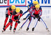 Subject: Evgeny Kozulin, Robert Seifert, Sebastian Praus, Sergej Prankevitch; Tags: Sport, Shorttrack, Short Track, Sergej Prankevitch, Sebastian Praus, Robert Seifert, RUS, Russian Federation, Russische Föderation, Russia, Herren, Men, Gentlemen, Mann, Männer, Gents, Sirs, Mister, GER, Germany, Deutschland, Evgeny Kozulin, Athlet, Athlete, Sportler, Wettkämpfer, Sportsman; PhotoID: 2010-01-22-3794