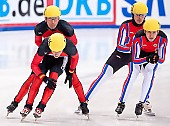 Subject: Robert Seifert, Sebastian Praus; Tags: Sport, Shorttrack, Short Track, Sebastian Praus, Robert Seifert, Herren, Men, Gentlemen, Mann, Männer, Gents, Sirs, Mister, GER, Germany, Deutschland, Athlet, Athlete, Sportler, Wettkämpfer, Sportsman; PhotoID: 2010-01-22-3815