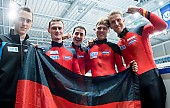 Subject: Paul Herrmann, Robert Becker, Robert Seifert, Sebastian Praus, Tyson Heung; Tags: Tyson Heung, Sport, Shorttrack, Short Track, Sebastian Praus, Robert Seifert, Robert Becker, Paul Herrmann, Herren, Men, Gentlemen, Mann, Männer, Gents, Sirs, Mister, GER, Germany, Deutschland, Athlet, Athlete, Sportler, Wettkämpfer, Sportsman; PhotoID: 2010-01-24-0453