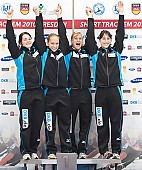 Subject: Aika Klein, Bianca Walter, Christin Priebst, Julia Riedel; Tags: Shorttrack, Short Track, Julia Riedel, GER, Germany, Deutschland, Ehemalige, Damen, Ladies, Frau, Mesdames, Female, Women, Christin Priebst, Bianca Walter, Athlet, Athlete, Sportler, Wettkämpfer, Sportsman, Aika Klein, Sport; PhotoID: 2010-01-24-0463