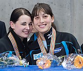 Subject: Aika Klein, Bianca Walter; Tags: Shorttrack, Short Track, GER, Germany, Deutschland, Ehemalige, Damen, Ladies, Frau, Mesdames, Female, Women, Bianca Walter, Athlet, Athlete, Sportler, Wettkämpfer, Sportsman, Aika Klein, Sport; PhotoID: 2010-01-24-0477
