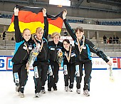 Subject: Aika Klein, Bianca Walter, Christin Priebst, Julia Riedel, Susanne Rudolph; Tags: Sport, Shorttrack, Short Track, Julia Riedel, GER, Germany, Deutschland, Ehemalige, Damen, Ladies, Frau, Mesdames, Female, Women, Christin Priebst, Bianca Walter, Athlet, Athlete, Sportler, Wettkämpfer, Sportsman, Aika Klein, Susanne Rudolph; PhotoID: 2010-01-24-0494