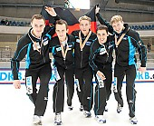 Subject: Paul Herrmann, Robert Becker, Robert Seifert, Sebastian Praus, Tyson Heung; Tags: Tyson Heung, Sport, Shorttrack, Short Track, Sebastian Praus, Robert Seifert, Robert Becker, Paul Herrmann, Herren, Men, Gentlemen, Mann, Männer, Gents, Sirs, Mister, GER, Germany, Deutschland, Athlet, Athlete, Sportler, Wettkämpfer, Sportsman; PhotoID: 2010-01-24-0495