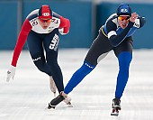 Subject: Angelina Golikova, Yekaterina Aydova; Tags: Sport, RUS, Russian Federation, Russische Föderation, Russia, KAZ, Kazakhstan, Kasachstan, Jekaterina Ajdova, Eisschnelllauf, Speed skating, Schaatsen, Damen, Ladies, Frau, Mesdames, Female, Women, Athlet, Athlete, Sportler, Wettkämpfer, Sportsman, Angelina Golikova; PhotoID: 2010-01-31-0259