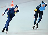 Subject: Christine Seemann, Iris Manthee; Tags: Sport, Iris Hanisch, GER, Germany, Deutschland, Eisschnelllauf, Speed skating, Schaatsen, Damen, Ladies, Frau, Mesdames, Female, Women, Christine Seemann, Athlet, Athlete, Sportler, Wettkämpfer, Sportsman; PhotoID: 2010-02-21-0388