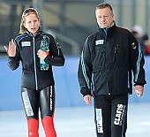 Subject: Bente Pflug, Klaus Ebert; Tags: Trainer, Coach, Betreuer, Sport, Klaus Ebert, GER, Germany, Deutschland, Eisschnelllauf, Speed skating, Schaatsen, Damen, Ladies, Frau, Mesdames, Female, Women, Bente Kraus, Athlet, Athlete, Sportler, Wettkämpfer, Sportsman; PhotoID: 2010-02-28-0212