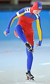 Subject: Daniela Ilaşcu; Tags: Sport, ROU, Romania, Rumänien, Eisschnelllauf, Speed skating, Schaatsen, Daniela Ilascu, Damen, Ladies, Frau, Mesdames, Female, Women, Athlet, Athlete, Sportler, Wettkämpfer, Sportsman; PhotoID: 2010-03-05-0233