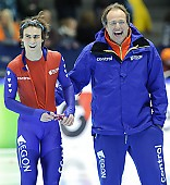 Subject: Jacques Orie, Jan Smeekens; Tags: Trainer, Coach, Betreuer, Sport, NED, Netherlands, Niederlande, Holland, Dutch, Jan Smeekens, Jacques Orie, Herren, Men, Gentlemen, Mann, Männer, Gents, Sirs, Mister, Eisschnelllauf, Speed skating, Schaatsen, Athlet, Athlete, Sportler, Wettkämpfer, Sportsman; PhotoID: 2010-03-12-1061