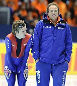 Subject: Jacques Orie, Mark Tuitert; Tags: Trainer, Coach, Betreuer, Sport, NED, Netherlands, Niederlande, Holland, Dutch, Mark Tuitert, Jacques Orie, Herren, Men, Gentlemen, Mann, Männer, Gents, Sirs, Mister, Eisschnelllauf, Speed skating, Schaatsen, Athlet, Athlete, Sportler, Wettkämpfer, Sportsman; PhotoID: 2010-03-12-3141
