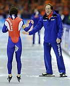 Subject: Jacques Orie, Jan Smeekens; Tags: Trainer, Coach, Betreuer, Sport, NED, Netherlands, Niederlande, Holland, Dutch, Jan Smeekens, Jacques Orie, Herren, Men, Gentlemen, Mann, Männer, Gents, Sirs, Mister, Eisschnelllauf, Speed skating, Schaatsen, Athlet, Athlete, Sportler, Wettkämpfer, Sportsman; PhotoID: 2010-03-13-0821