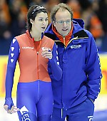 Subject: Jacques Orie, Margot Boer; Tags: Trainer, Coach, Betreuer, Sport, NED, Netherlands, Niederlande, Holland, Dutch, Margot Boer, Jacques Orie, Eisschnelllauf, Speed skating, Schaatsen, Damen, Ladies, Frau, Mesdames, Female, Women, Athlet, Athlete, Sportler, Wettkämpfer, Sportsman; PhotoID: 2010-03-13-1236
