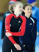 Subject: Anna Rother, Nicole Kowalewskij; Tags: Anna Rother, Athlet, Athlete, Sportler, Wettkämpfer, Sportsman, Damen, Ladies, Frau, Mesdames, Female, Women, Eisschnelllauf, Speed skating, Schaatsen, GER, Germany, Deutschland, Nicole Kowalewskij, Sport; PhotoID: 2010-10-16-0014
