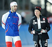 Subject: Cathrine Grage, Pascal Briand; Tags: Athlet, Athlete, Sportler, Wettkämpfer, Sportsman, Catherine Grage, DEN, Denmark, Dänemark, Damen, Ladies, Frau, Mesdames, Female, Women, Eisschnelllauf, Speed skating, Schaatsen, FRA, France, Frankreich, Herren, Men, Gentlemen, Mann, Männer, Gents, Sirs, Mister, Pascal Briand, Sport; PhotoID: 2010-10-30-0463