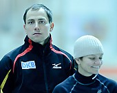 Subject: André Unterdörfel, Marion Wohlrab; Tags: André Unterdörfel, Eisschnelllauf, Speed skating, Schaatsen, GER, Germany, Deutschland, Marion Wohlrab, Sport, Trainer, Coach, Betreuer; PhotoID: 2010-11-06-0362