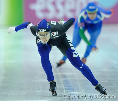 Hyeon-Yeong Kim; Tags: Athlet, Athlete, Sportler, Wettkämpfer, Sportsman, Damen, Ladies, Frau, Mesdames, Female, Women, Eisschnelllauf, Speed skating, Schaatsen, Hyeon-Yeong Kim, KOR, South Korea, Südkorea, Sport; PhotoID: 2011-01-22-0541