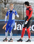 Subject: Jonas Pflug, Juho Vaittinen; Tags: Sport, Juho Vaittinen, Jonas Pflug, Herren, Men, Gentlemen, Mann, Männer, Gents, Sirs, Mister, GER, Germany, Deutschland, FIN, Finland, Finnland, Eisschnelllauf, Speed skating, Schaatsen, Athlet, Athlete, Sportler, Wettkämpfer, Sportsman; PhotoID: 2011-01-30-0199