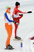 Subject: Alesja Tsjernega, Reina Anema; Tags: Sport, Reina Anema, RUS, Russian Federation, Russische Föderation, Russia, NED, Netherlands, Niederlande, Holland, Dutch, Eisschnelllauf, Speed skating, Schaatsen, Damen, Ladies, Frau, Mesdames, Female, Women, Athlet, Athlete, Sportler, Wettkämpfer, Sportsman, Alesja Tsjernega; PhotoID: 2011-01-30-0289