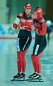 Subject: Bente Pflug, Claudia Pechstein; Tags: Sport, GER, Germany, Deutschland, Eisschnelllauf, Speed skating, Schaatsen, Damen, Ladies, Frau, Mesdames, Female, Women, Claudia Pechstein, Bente Kraus, Athlet, Athlete, Sportler, Wettkämpfer, Sportsman; PhotoID: 2011-02-12-0019