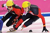 Subject: Maxime Fortin, Robert Seifert; Tags: Athlet, Athlete, Sportler, Wettkämpfer, Sportsman, FRA, France, Frankreich, GER, Germany, Deutschland, Herren, Men, Gentlemen, Mann, Männer, Gents, Sirs, Mister, Maxime Fortin, Robert Seifert, Shorttrack, Short Track, Sport; PhotoID: 2011-02-18-0170