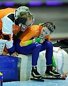 Subject: Jacques Orie, Laurine van Riessen; Tags: Trainer, Coach, Betreuer, Sport, NED, Netherlands, Niederlande, Holland, Dutch, Laurine van Riessen, Jacques Orie, Eisschnelllauf, Speed skating, Schaatsen, Damen, Ladies, Frau, Mesdames, Female, Women, Athlet, Athlete, Sportler, Wettkämpfer, Sportsman; PhotoID: 2011-03-04-0241
