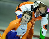 Subject: Jacques Orie, Mark Tuitert; Tags: Trainer, Coach, Betreuer, Sport, NED, Netherlands, Niederlande, Holland, Dutch, Mark Tuitert, Jacques Orie, Herren, Men, Gentlemen, Mann, Männer, Gents, Sirs, Mister, Eisschnelllauf, Speed skating, Schaatsen, Athlet, Athlete, Sportler, Wettkämpfer, Sportsman; PhotoID: 2011-03-05-0260