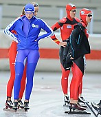 Subject: Cerise Tersteeg, Denise Roth, Jenny Wolf; Tags: Sport, NED, Netherlands, Niederlande, Holland, Dutch, Jenny Wolf, GER, Germany, Deutschland, Eisschnelllauf, Speed skating, Schaatsen, Denise Roth, Damen, Ladies, Frau, Mesdames, Female, Women, Cerise Tersteeg, Athlet, Athlete, Sportler, Wettkämpfer, Sportsman; PhotoID: 2011-07-29-0105