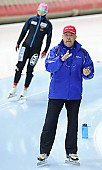 Subject: Uwe-Michael Hüttenrauch; Tags: Uwe-Michael Hüttenrauch, Trainer, Coach, Betreuer, Sport, GER, Germany, Deutschland, Eisschnelllauf, Speed skating, Schaatsen; PhotoID: 2011-11-04-0321