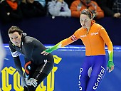 Subject: Heather Bergsma, Laurine van Riessen; Tags: USA, United States, Vereinigte Staaten von Amerika, Sport, NED, Netherlands, Niederlande, Holland, Dutch, Laurine van Riessen, Heather Richardson, Eisschnelllauf, Speed skating, Schaatsen, Damen, Ladies, Frau, Mesdames, Female, Women, Athlet, Athlete, Sportler, Wettkämpfer, Sportsman; PhotoID: 2012-03-02-1061
