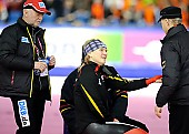 Subject: Jenny Wolf, Thomas Schubert; Tags: Trainer, Coach, Betreuer, Thomas Schubert, Sport, Jenny Wolf, GER, Germany, Deutschland, Eisschnelllauf, Speed skating, Schaatsen, Damen, Ladies, Frau, Mesdames, Female, Women, Athlet, Athlete, Sportler, Wettkämpfer, Sportsman; PhotoID: 2012-03-02-1220
