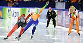 Subject: Jenny Wolf, Margot Boer; Tags: Sport, NED, Netherlands, Niederlande, Holland, Dutch, Margot Boer, Jenny Wolf, GER, Germany, Deutschland, Eisschnelllauf, Speed skating, Schaatsen, Damen, Ladies, Frau, Mesdames, Female, Women, Athlet, Athlete, Sportler, Wettkämpfer, Sportsman; PhotoID: 2012-03-03-0064