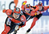 Subject: Denny Ihle, Eric Rauschenbach, Hubert Hirschbichler; Tags: Sport, Hubert Hirschbichler, Herren, Men, Gentlemen, Mann, Männer, Gents, Sirs, Mister, GER, Germany, Deutschland, Eric Rauschenbach, Eisschnelllauf, Speed skating, Schaatsen, Denny Ihle, Athlet, Athlete, Sportler, Wettkämpfer, Sportsman; PhotoID: 2012-03-04-0324