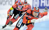 Subject: Denny Ihle, Eric Rauschenbach, Hubert Hirschbichler; Tags: Sport, Hubert Hirschbichler, Herren, Men, Gentlemen, Mann, Männer, Gents, Sirs, Mister, GER, Germany, Deutschland, Eric Rauschenbach, Eisschnelllauf, Speed skating, Schaatsen, Denny Ihle, Athlet, Athlete, Sportler, Wettkämpfer, Sportsman; PhotoID: 2012-03-04-0325