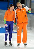 Subject: Diane Valkenburg, Jacques Orie; Tags: Athlet, Athlete, Sportler, Wettkämpfer, Sportsman, Damen, Ladies, Frau, Mesdames, Female, Women, Diane Valkenburg, Eisschnelllauf, Speed skating, Schaatsen, Jacques Orie, NED, Netherlands, Niederlande, Holland, Dutch, Sport, Trainer, Coach, Betreuer; PhotoID: 2012-03-09-0481