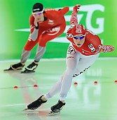 Subject: Ida Njåtun, Yekaterina Lobysheva; Tags: Athlet, Athlete, Sportler, Wettkämpfer, Sportsman, Damen, Ladies, Frau, Mesdames, Female, Women, Eisschnelllauf, Speed skating, Schaatsen, Ida Njåtun, Jekaterina Lobysjeva, NOR, Norway, Norwegen, RUS, Russian Federation, Russische Föderation, Russia, Sport; PhotoID: 2013-03-02-0614
