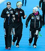 Subject: Bente Pflug, Jennifer Bay, Judith Dannhauer; Tags: Sport, Judith Hesse, Jennifer Bay, GER, Germany, Deutschland, Eisschnelllauf, Speed skating, Schaatsen, Damen, Ladies, Frau, Mesdames, Female, Women, Bente Kraus, Athlet, Athlete, Sportler, Wettkämpfer, Sportsman; PhotoID: 2013-03-03-0117