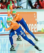 Subject: Laurine van Riessen; Tags: Athlet, Athlete, Sportler, Wettkämpfer, Sportsman, Damen, Ladies, Frau, Mesdames, Female, Women, Eisschnelllauf, Speed skating, Schaatsen, Laurine van Riessen, NED, Netherlands, Niederlande, Holland, Dutch, Sport; PhotoID: 2013-03-03-0321