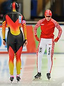 Subject: Jennifer Plate, Julija Litejkina; Tags: Athlet, Athlete, Sportler, Wettkämpfer, Sportsman, Damen, Ladies, Frau, Mesdames, Female, Women, Eisschnelllauf, Speed skating, Schaatsen, GER, Germany, Deutschland, Jennifer Plate, Julija Litejkina, RUS, Russian Federation, Russische Föderation, Russia, Sport; PhotoID: 2013-12-06-0137