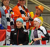 Subject: Anna Rokita, Stephanie Beckert; Tags: AUT, Austria, Österreich, Anna Rokita, Athlet, Athlete, Sportler, Wettkämpfer, Sportsman, Damen, Ladies, Frau, Mesdames, Female, Women, Eisschnelllauf, Speed skating, Schaatsen, GER, Germany, Deutschland, Sport, Stephanie Beckert; PhotoID: 2013-12-06-0698