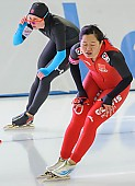 Subject: Shuang Zhang; Tags: Athlet, Athlete, Sportler, Wettkämpfer, Sportsman, CHN, China, Volksrepublik China, Damen, Ladies, Frau, Mesdames, Female, Women, Eisschnelllauf, Speed skating, Schaatsen, Shuang Zhang, Sport; PhotoID: 2013-12-07-0042