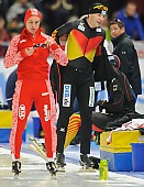 Subject: Dmitrij Lobkov, Nico Ihle; Tags: Athlet, Athlete, Sportler, Wettkämpfer, Sportsman, Dmitrij Lobkov, Eisschnelllauf, Speed skating, Schaatsen, GER, Germany, Deutschland, Herren, Men, Gentlemen, Mann, Männer, Gents, Sirs, Mister, Nico Ihle, RUS, Russian Federation, Russische Föderation, Russia, Sport; PhotoID: 2013-12-07-0521
