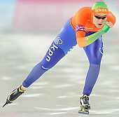 Subject: Lotte van Beek; Tags: Athlet, Athlete, Sportler, Wettkämpfer, Sportsman, Damen, Ladies, Frau, Mesdames, Female, Women, Eisschnelllauf, Speed skating, Schaatsen, Lotte van Beek, NED, Netherlands, Niederlande, Holland, Dutch, Sport; PhotoID: 2013-12-08-0473