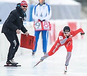 Subject: Lasse Sætre, Camilla Lund; Tags: Athlet, Athlete, Sportler, Wettkämpfer, Sportsman, Camilla Lund, Damen, Ladies, Frau, Mesdames, Female, Women, Eisschnelllauf, Speed skating, Schaatsen, Lasse Sætre, NOR, Norway, Norwegen, Sport, Trainer, Coach, Betreuer; PhotoID: 2014-01-25-0079