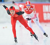 Subject: Mei Han; Tags: Athlet, Athlete, Sportler, Wettkämpfer, Sportsman, CHN, China, Volksrepublik China, Damen, Ladies, Frau, Mesdames, Female, Women, Eisschnelllauf, Speed skating, Schaatsen, Mei Han, Sport; PhotoID: 2014-01-25-0286