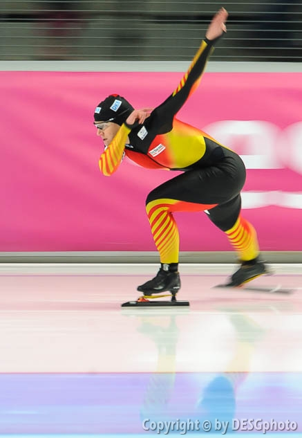 Jenny Wolf; Tags: Athlet, Athlete, Sportler, Wettkämpfer, Sportsman, Damen, Ladies, Frau, Mesdames, Female, Women, Eisschnelllauf, Speed skating, Schaatsen, GER, Germany, Deutschland, Jenny Wolf, Sport; PhotoID: 2014-03-07-0383