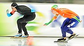 Subject: Brittany Bowe, Ireen Wüst; Tags: Athlet, Athlete, Sportler, Wettkämpfer, Sportsman, Brittany Bowe, Damen, Ladies, Frau, Mesdames, Female, Women, Eisschnelllauf, Speed skating, Schaatsen, Ireen Wüst, NED, Netherlands, Niederlande, Holland, Dutch, Sport, USA, United States, Vereinigte Staaten von Amerika; PhotoID: 2014-03-07-0691