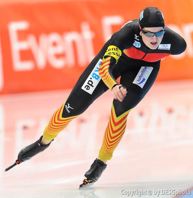 Jennifer Bay; Tags: Athlet, Athlete, Sportler, Wettkämpfer, Sportsman, Damen, Ladies, Frau, Mesdames, Female, Women, Eisschnelllauf, Speed skating, Schaatsen, GER, Germany, Deutschland, Jennifer Bay, Sport; PhotoID: 2014-03-08-0136
